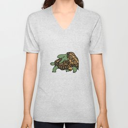 Turtle Galapagos mate love mating  Unisex V-Neck