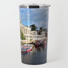 York City Guildhall and river Ouse Travel Mug