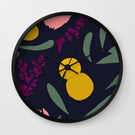 Abtract Garden by Night Wall Clock