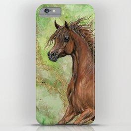 Chestnut arabian horse iPhone Case