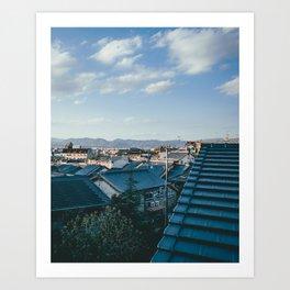Kyoto Rooftops Kunstdrucke