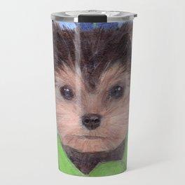 Yorkie Poo in Scarf Travel Mug