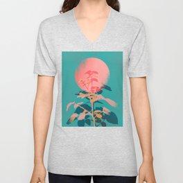 Flower noir Unisex V-Neck