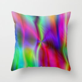 Blurred smoke-like lines sharpened with contrast! Throw Pillow