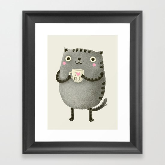 I♥kill (brown) Framed Art Print
