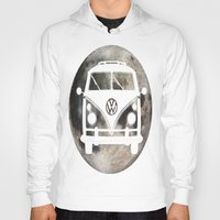 volkswagon Hoodies featuring Moon Wagon by Isaak_Rodriguez