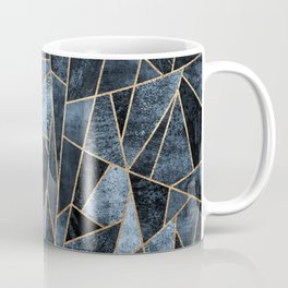 Shattered Soft Dark Blue Coffee Mug