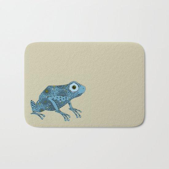 Little blue frog Bath Mat