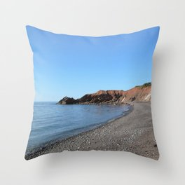 Watercolor Landscape, Cape Breton 11, Nova Scotia, Canada Throw Pillow