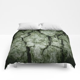 Darkened Tree Bark Comforters