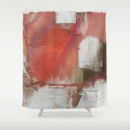 California Sun [2]: a minimal, abstract piece in reds and gold by Alyssa Hamilton Art Shower Curtain