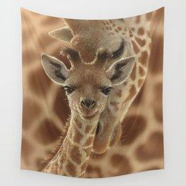 Giraffe Baby - New Born Wall Tapestry