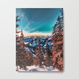 Red Mountain morning Metal Print