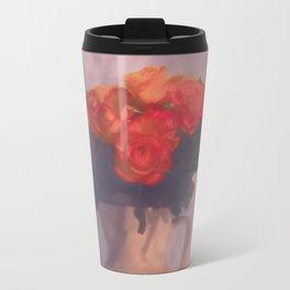 Milk jar and roses Travel Mug
