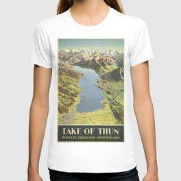Vintage poster - Lake of Thun T-shirt
