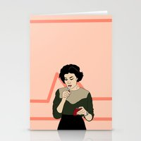 twin peaks Stationery Cards featuring TWIN PEAKS by DRAWDEALER
