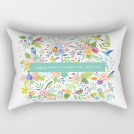 Jane Eyre - I Would Rather Be Happy Than Dignified Rectangular Pillow