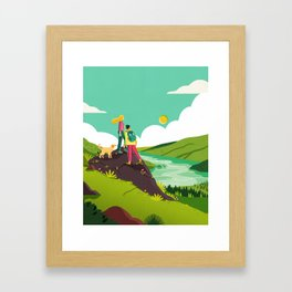How to be Happy I Framed Art Print