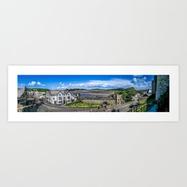 A Long Way in Conwy Art Print