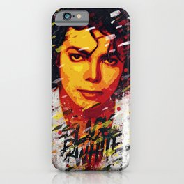 M Jackson | Pop art portrait | Old school collection iPhone Case