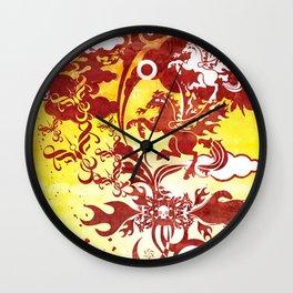 Heavenly Escort Wall Clock