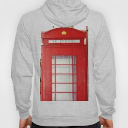 Red telephone booth. Hoody
