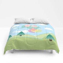 Elephant and Balloons, nursery decor , Comforters