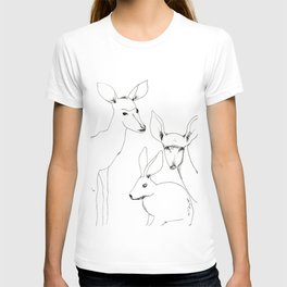 Deers and Rabbit T-shirt