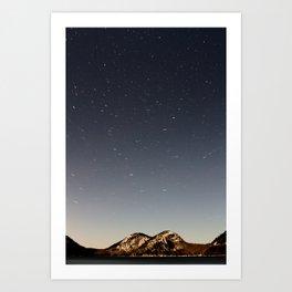 Jordan Pond Star Trail Art Print