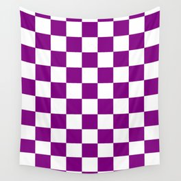 Diamonds - White and Purple Violet Wall Tapestry