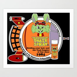 Bucky O'Hare Spray Art Print