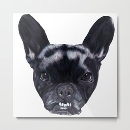 Frenchie Bella Metal Print