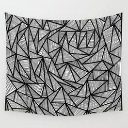 Triangles and Lines Wall Tapestry