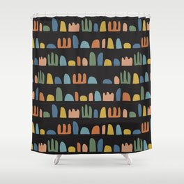 Rainbow Mountains Shower Curtain