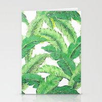 banana leaf Stationery Cards featuring Banana for banana leaf by Indulgencedecor