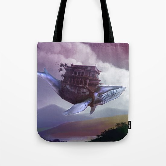 Floating whale Tote Bag