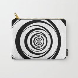 Black White Circles Optical Illusion Carry-All Pouch