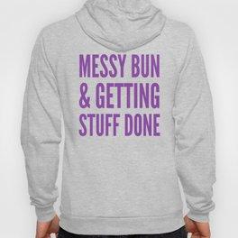 Messy Bun & Getting Stuff Done (Purple Checkered Pattern) Hoody