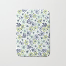 Rocco Bloom blue and green Bath Mat