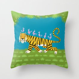 Tiger Transportation Throw Pillow
