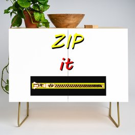 Zip it Black Yellow Red jGibney The MUSEUM Gifts Credenza