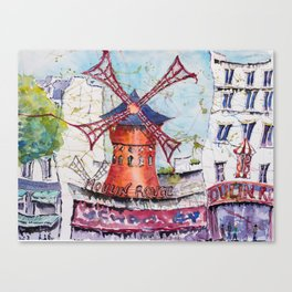 MoulinRouge, Paris Canvas Print