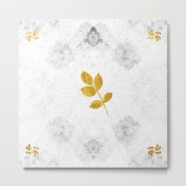 Marble and Gold Metal Print