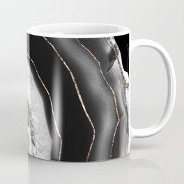 Gray Black White Agate with Gold Glitter #5 #gem #decor #art #society6  Coffee Mug