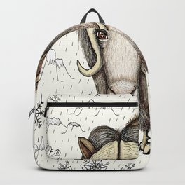 Chinese horoscope / zodiac, Year of the Ox:  The Beautiful Musk Ox with snow and mountains Backpack