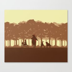 Biking with Friends Canvas Print