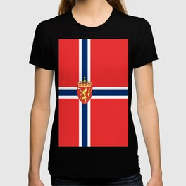 Flag of Norway Scandinavian Cross and Coat of Arms T-shirt