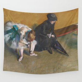 Waiting by Edgar Degas Wall Tapestry
