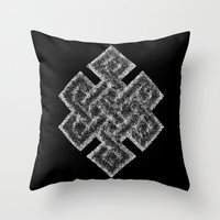 buddhism Throw Pillows featuring Many Paths of One Humanity - 1 of 7 - Buddhism  by ART.KF