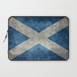 Flag of Scotland, Vintage retro style Laptop Sleeve